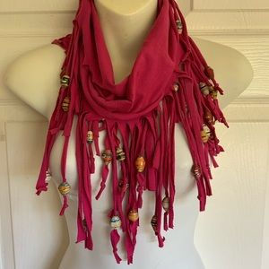 Accessories - INFINITY SCARF..magenta with unique beads